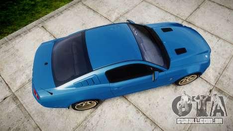 Ford Mustang Shelby GT500 2013 para GTA 4 vista direita