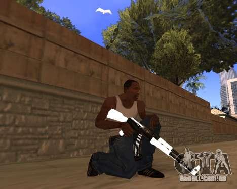 White Chrome Gun Pack para GTA San Andreas quinto tela