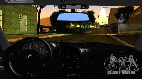 BMW M3 E36 UUTuning para GTA San Andreas traseira esquerda vista