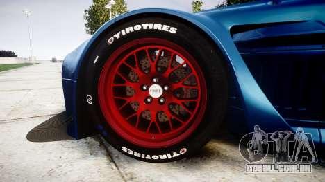 Aston Martin V12 Vantage GT3 2012 para GTA 4 vista de volta