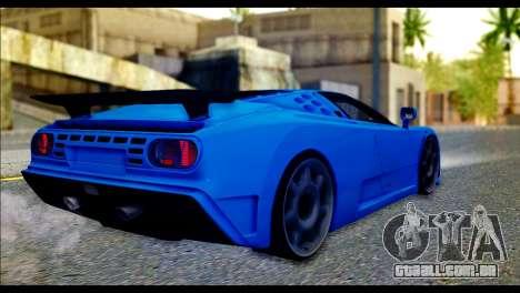 Bugatti EB110SS para GTA San Andreas esquerda vista