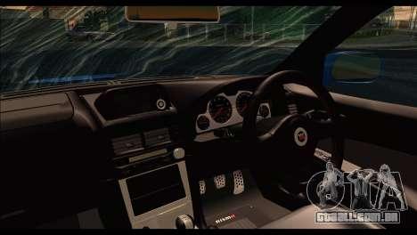 Nissan Skyline R-34 para GTA San Andreas traseira esquerda vista