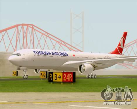 Airbus A330-300 Turkish Airlines para GTA San Andreas esquerda vista