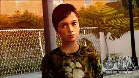Ellie from The Last Of Us v3 para GTA San Andreas terceira tela