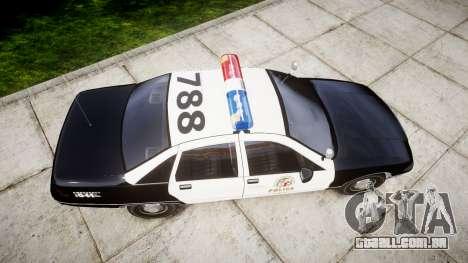 Chevrolet Caprice 1991 LAPD [ELS] Patrol para GTA 4 vista direita