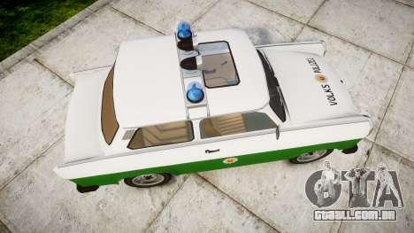 Trabant 601 deluxe 1981 Police para GTA 4 vista direita