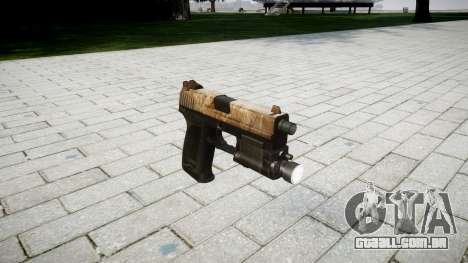 Pistola HK USP 45 empoeirado para GTA 4