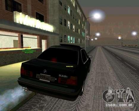 BMW 535i Stock para GTA San Andreas esquerda vista