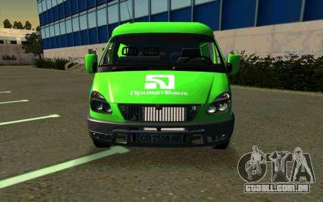 Gazela 2705 PrivatBank para GTA San Andreas esquerda vista