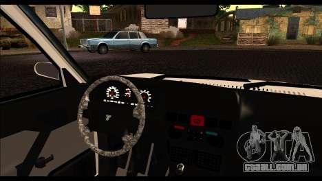 Tofas Dogan 90 Model para GTA San Andreas traseira esquerda vista