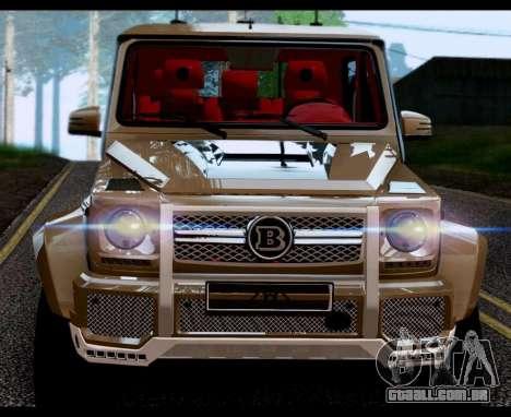 BRABUS 700 - Mercedes-Benz G63 AMG 6x6 para GTA San Andreas traseira esquerda vista