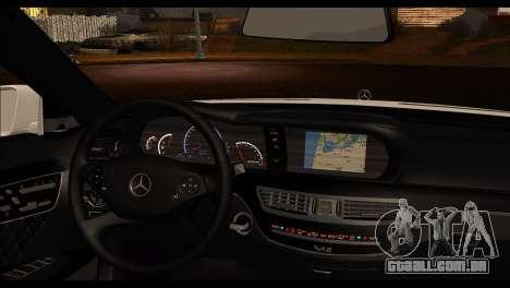 Mercedes-Benz S70 para GTA San Andreas traseira esquerda vista