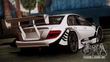 Mercedes-Benz C-Coupe AMG DTM para GTA San Andreas esquerda vista