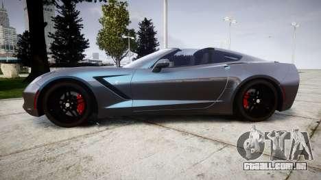 Chevrolet Corvette Stingray C7 2014 para GTA 4 esquerda vista