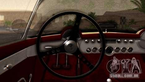 Chevrolet Corvette C1 1962 Dirt para GTA San Andreas traseira esquerda vista