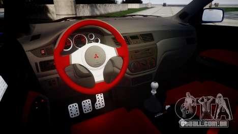 Mitsubishi Lancer Evolution IX para GTA 4 vista interior