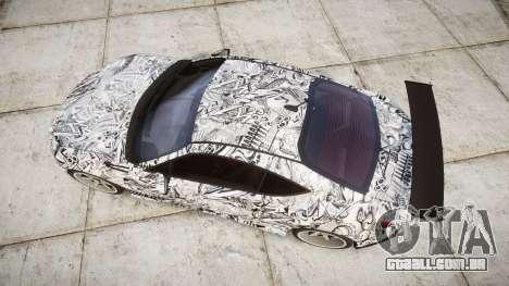 Subaru BRZ 2011 Sharpie para GTA 4 vista direita