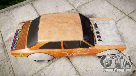 Ford Escort Mk1 Rust Rod v2.0 para GTA 4 vista direita