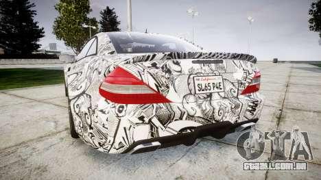 Mersedes-Benz SL65 AMG 2009 Sharpie para GTA 4 traseira esquerda vista
