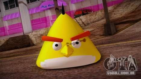 Yellow Bird from Angry Birds para GTA San Andreas terceira tela