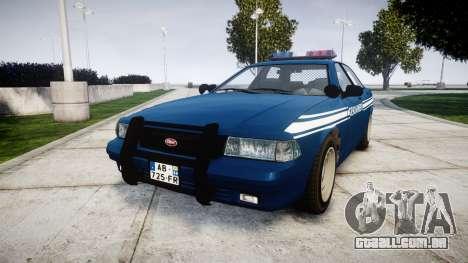 GTA V Vapid Police Cruiser Gendarmerie1 para GTA 4