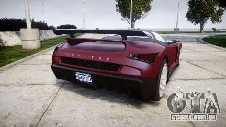 GTA V Grotti Cheetah para GTA 4 traseira esquerda vista