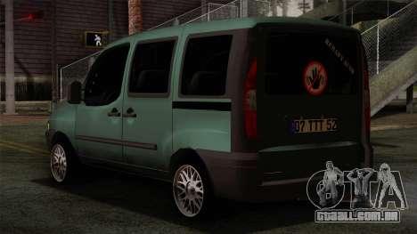 Fiat Doblo 2005 para GTA San Andreas esquerda vista