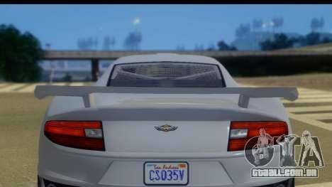 GTA 5 Dewbauchee Massacro IVF para GTA San Andreas traseira esquerda vista