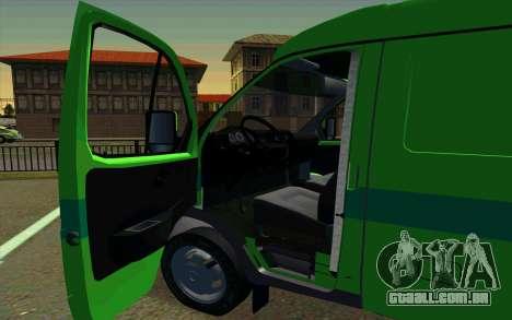 Gazela 2705 PrivatBank para GTA San Andreas traseira esquerda vista