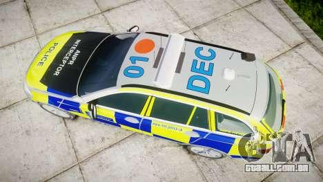 BMW 525d F11 2014 Police [ELS] para GTA 4 vista direita