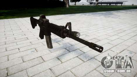 Tática rifle de assalto M4 Black Edition para GTA 4