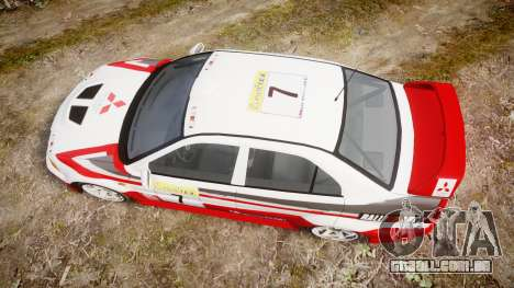 Mitsubishi Lancer Evolution VI Rally Edition para GTA 4 vista direita