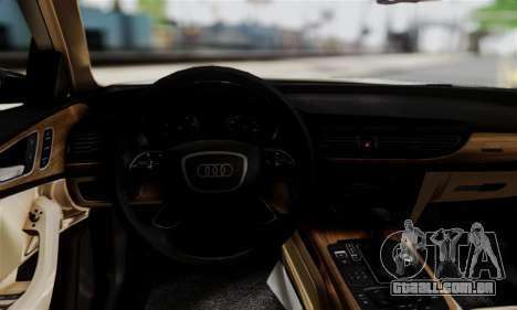Audi A6 (C7) para GTA San Andreas traseira esquerda vista