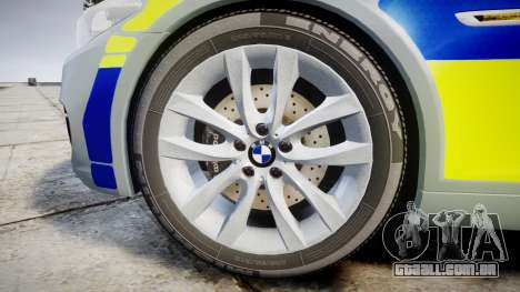 BMW 525d F11 2014 Police [ELS] para GTA 4 vista de volta