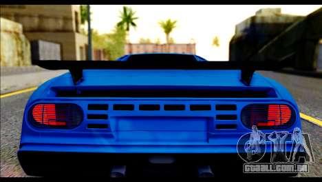 Bugatti EB110SS para GTA San Andreas vista traseira