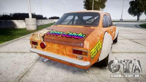 Ford Escort Mk1 Rust Rod v2.0 para GTA 4 traseira esquerda vista