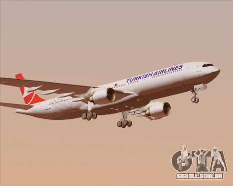 Airbus A330-300 Turkish Airlines para GTA San Andreas vista superior