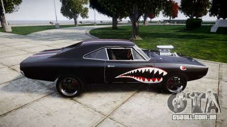 Dodge Charger RT 1970 Shark para GTA 4 esquerda vista