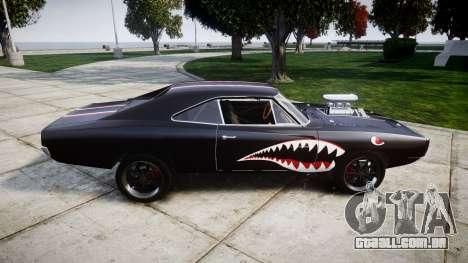 Dodge Charger RT 1970 Shark para GTA 4 esquerda vista
