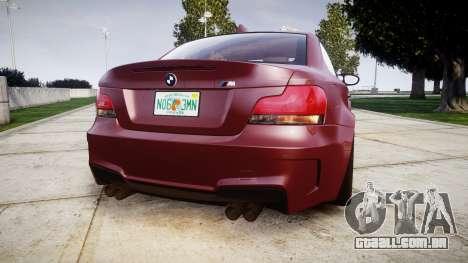 BMW 1M 2011 para GTA 4 traseira esquerda vista