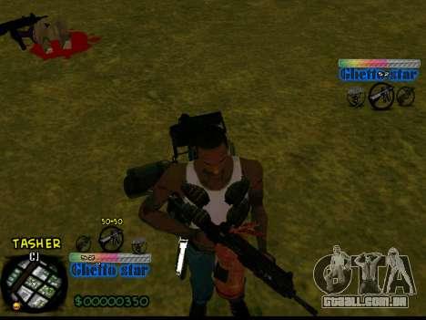 C-HUD Ghetto Star para GTA San Andreas segunda tela