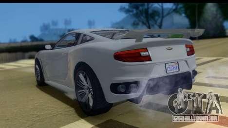 GTA 5 Dewbauchee Massacro IVF para GTA San Andreas esquerda vista