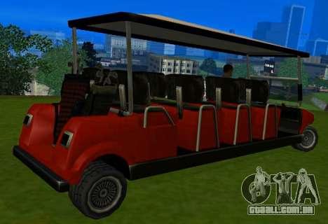 Caddy Restyle para GTA San Andreas traseira esquerda vista