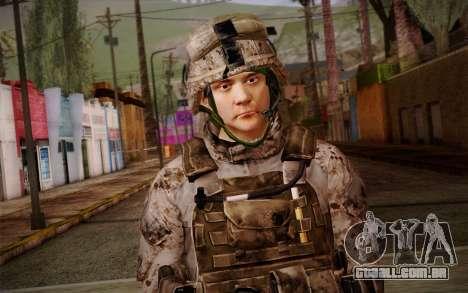 Chaffin from Battlefield 3 para GTA San Andreas terceira tela