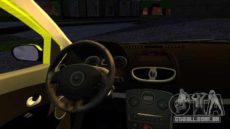 Renault Clio para GTA San Andreas traseira esquerda vista