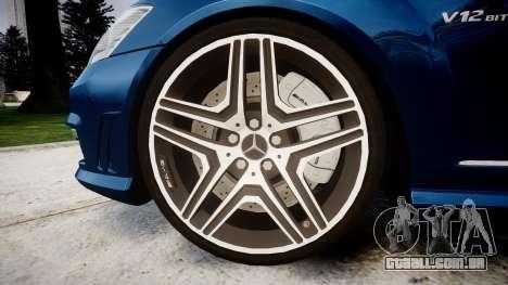 Mercedes-Benz S65 W221 AMG v2.0 rims2 para GTA 4 vista de volta