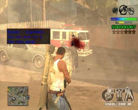 C-HUD Simple para GTA San Andreas segunda tela