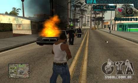 C-HUD Rifa Gang para GTA San Andreas por diante tela
