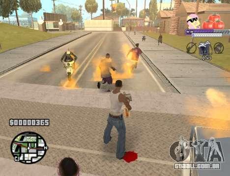 C-HUD Pony and Pomidors para GTA San Andreas por diante tela