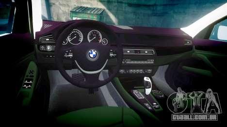 BMW 525d F11 2014 Police [ELS] para GTA 4 vista interior